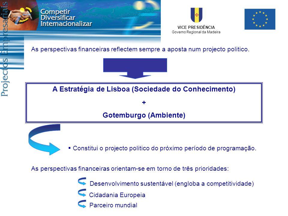 VICE PRESIDÊNCIA Governo Regional da Madeira As perspectivas financeiras reflectem sempre a aposta num projecto politico. A Estratégia de Lisboa (Soci