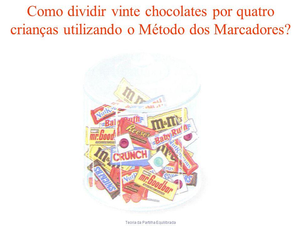 Teoria da Partilha Equlilbrada Como dividir vinte chocolates por quatro crianças utilizando o Método dos Marcadores?