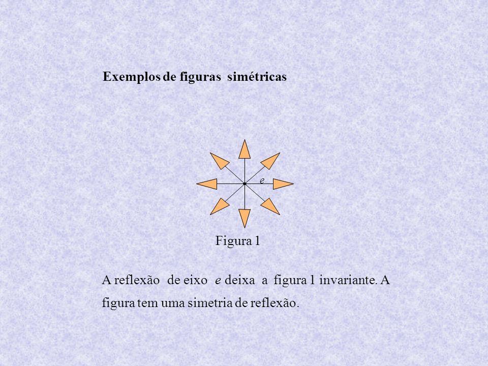 e Figura 1 Exemplos de figuras simétricas A reflexãode eixoe deixaafigura 1 invariante. A figura tem uma simetria de reflexão.