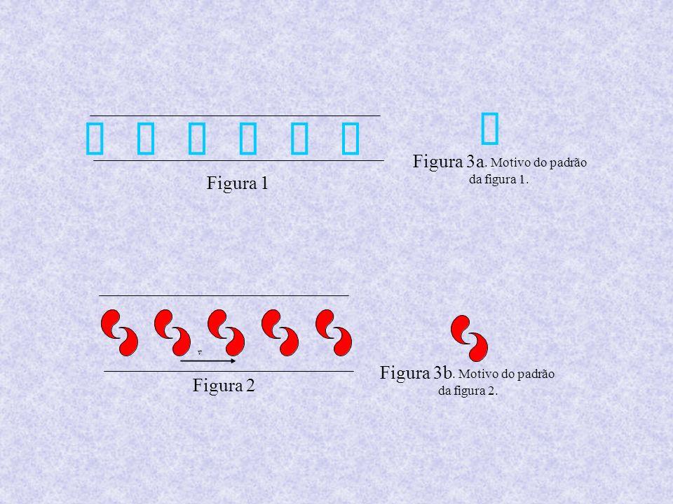 Figura 3b. Motivo do padrão da figura 2. Figura 2 v Figura 1 Figura 3a. Motivo do padrão da figura 1.