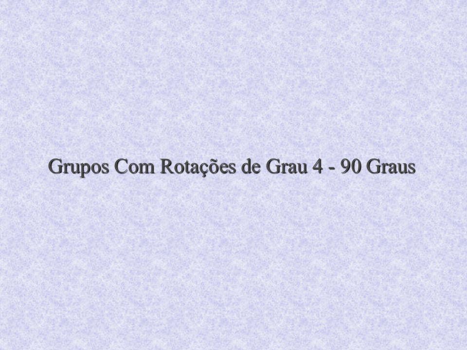 Grupos Com Rotações de Grau 4 - 90 Graus