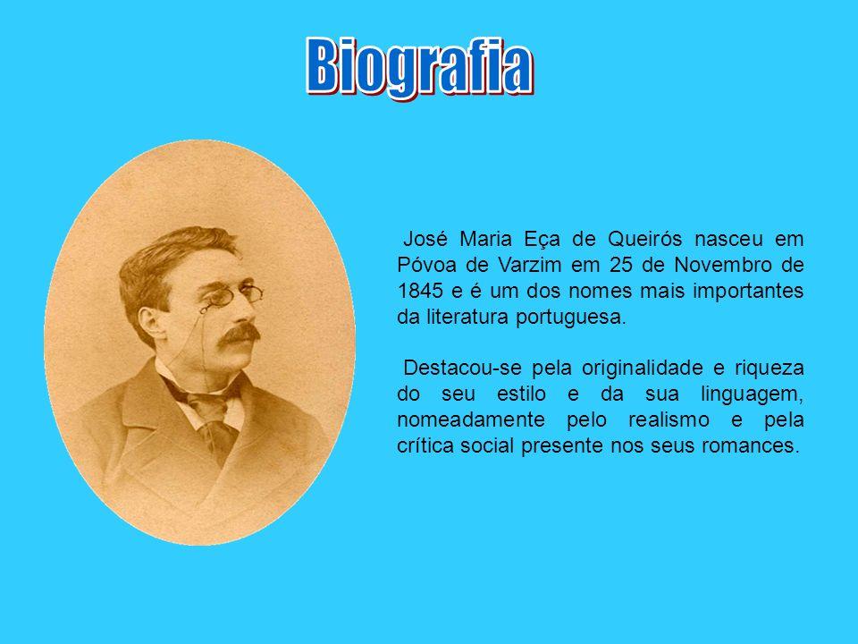 José Maria Eça de Queirós nasceu em Póvoa de Varzim em 25 de Novembro de 1845 e é um dos nomes mais importantes da literatura portuguesa. Destacou-se