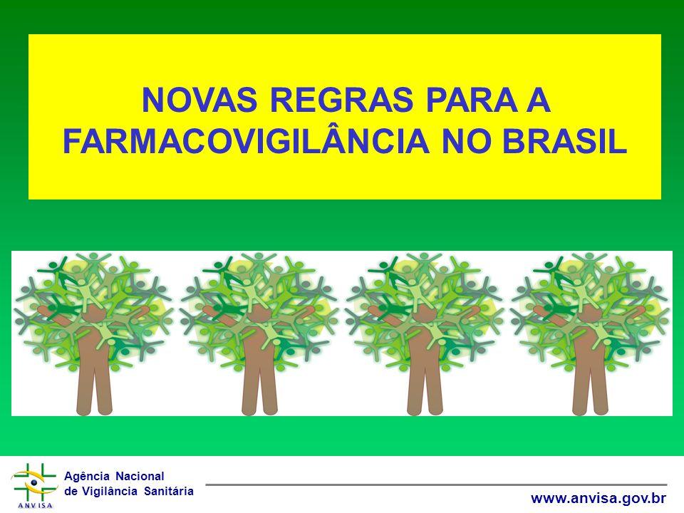 Agência Nacional de Vigilância Sanitária www.anvisa.gov.br NOVAS REGRAS PARA A FARMACOVIGILÂNCIA NO BRASIL