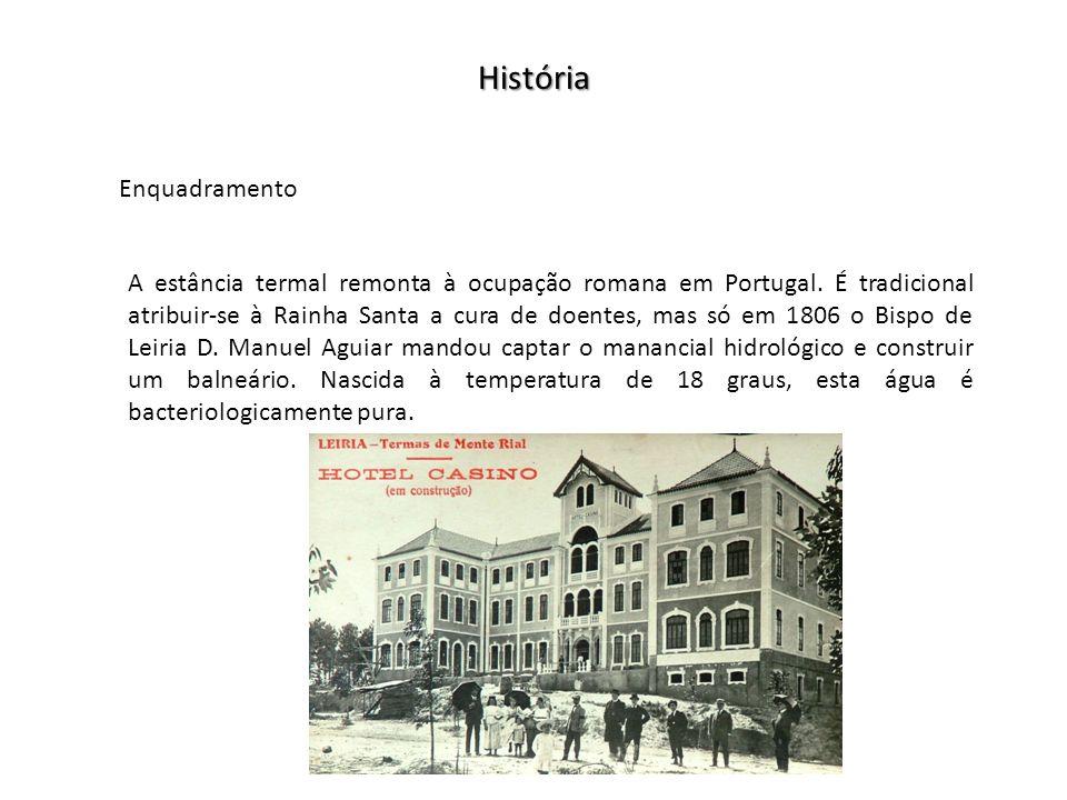 História Enquadramento A estância termal remonta à ocupação romana em Portugal.