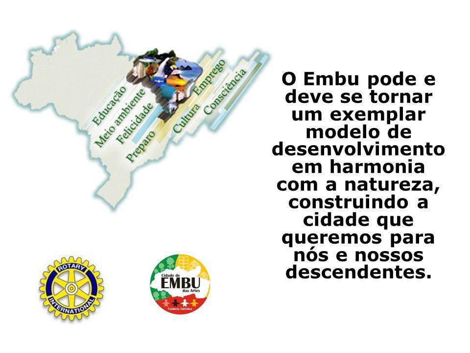 O Embu pode e deve se tornar um exemplar modelo de desenvolvimento em harmonia com a natureza, construindo a cidade que queremos para nós e nossos des