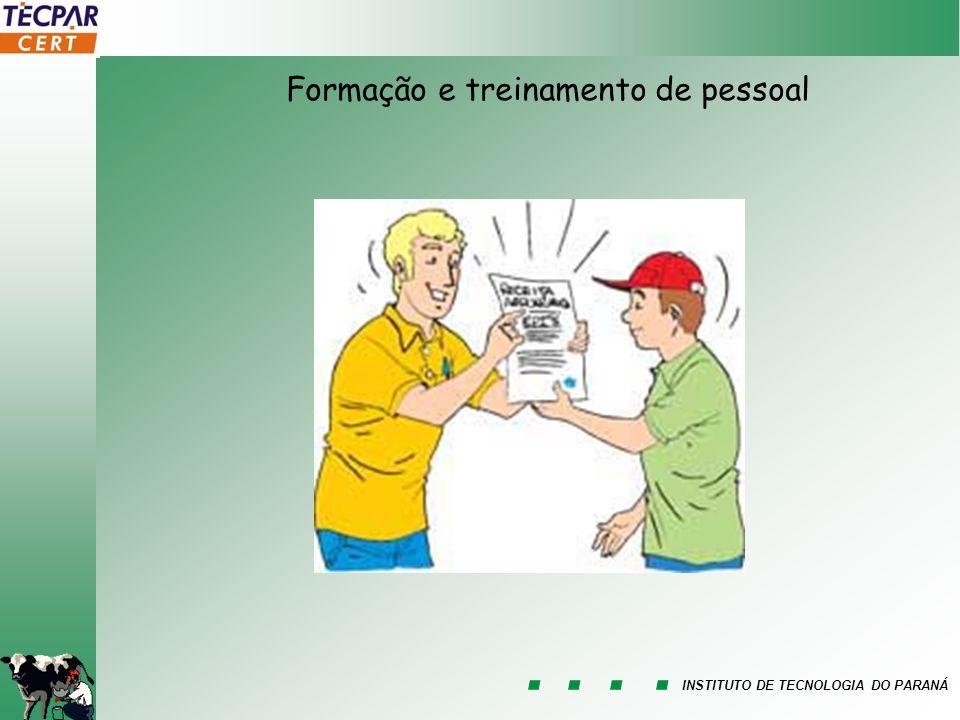 INSTITUTO DE TECNOLOGIA DO PARANÁ Formação e treinamento de pessoal