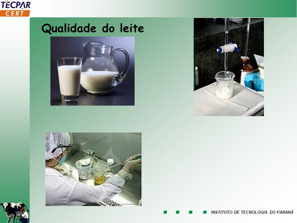INSTITUTO DE TECNOLOGIA DO PARANÁ Qualidade do leite