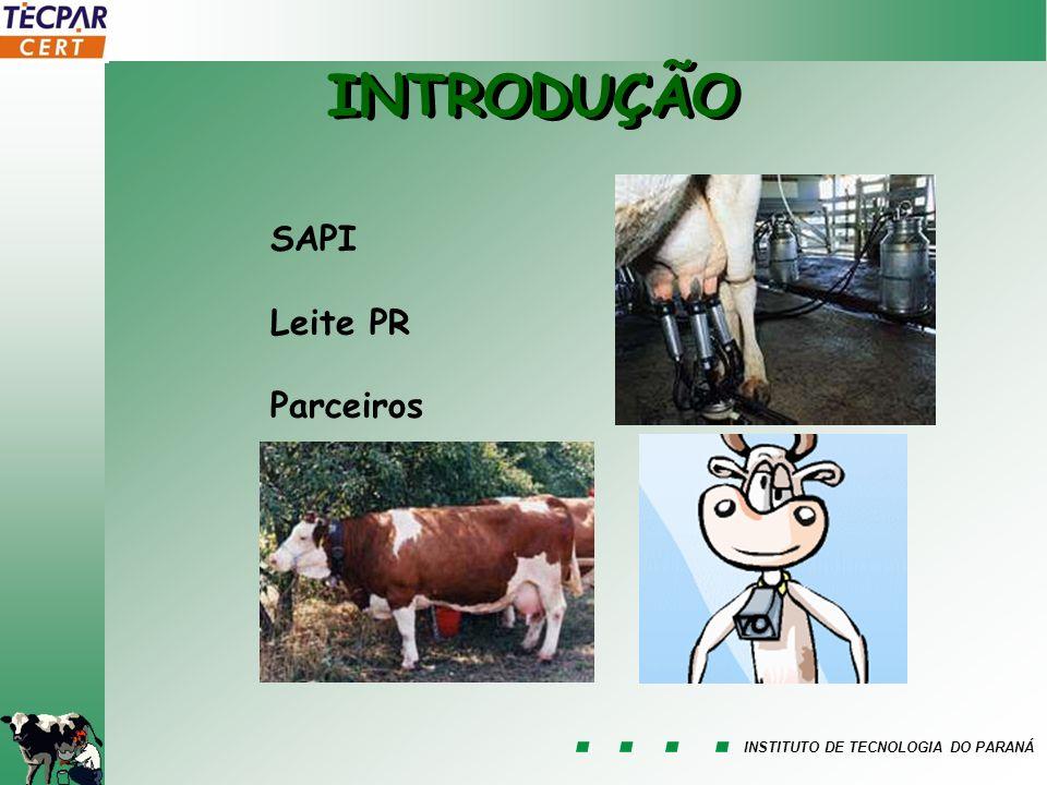 INSTITUTO DE TECNOLOGIA DO PARANÁ INTRODUÇÃO SAPI Leite PR Parceiros