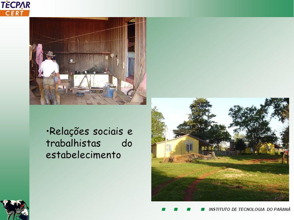 INSTITUTO DE TECNOLOGIA DO PARANÁ Relações sociais e trabalhistas do estabelecimento