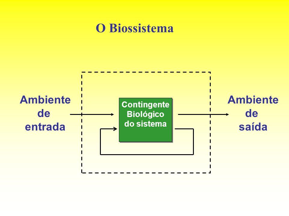 O Biossistema Contingente Biológico do sistema Contingente Biológico do sistema Ambiente de entrada Ambiente de saída