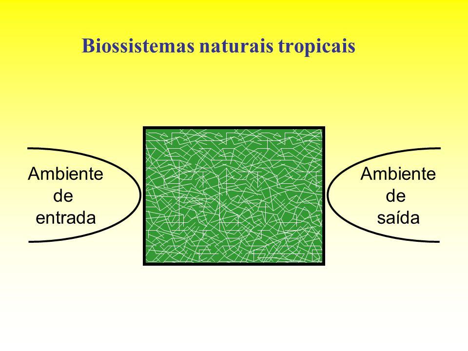 Biossistemas naturais tropicais Ambiente de entrada Ambiente de saída