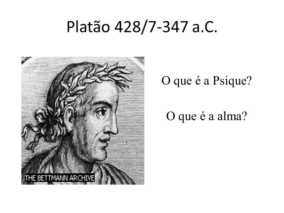 Platão 428/7-347 a.C. O que é a Psique? O que é a alma?