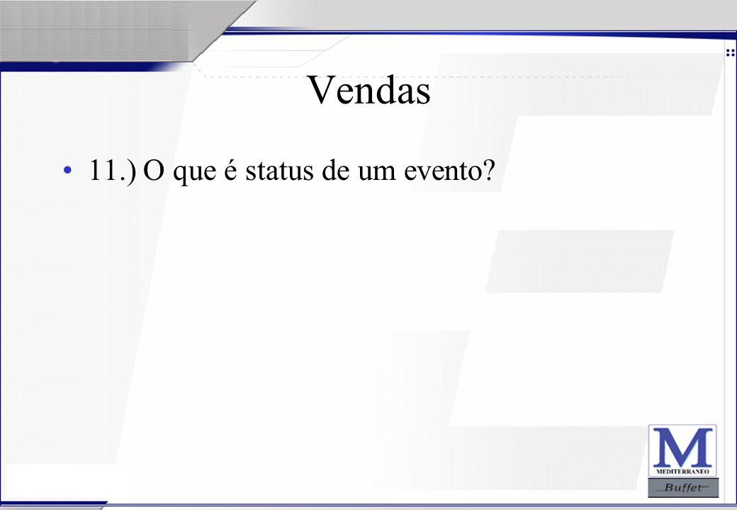 24/07/2003 Vendas 11.) O que é status de um evento?