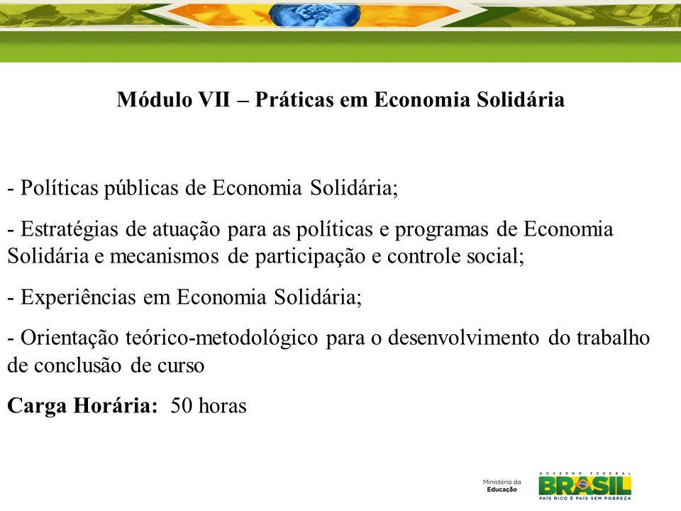 - Políticas públicas de Economia Solidária; - Estratégias de atuação para as políticas e programas de Economia Solidária e mecanismos de participação