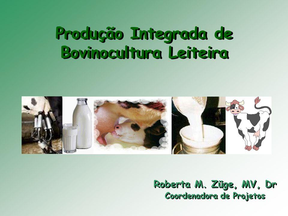 Produção Integrada de Bovinocultura Leiteira Roberta M. Züge, MV, Dr Coordenadora de Projetos Roberta M. Züge, MV, Dr Coordenadora de Projetos