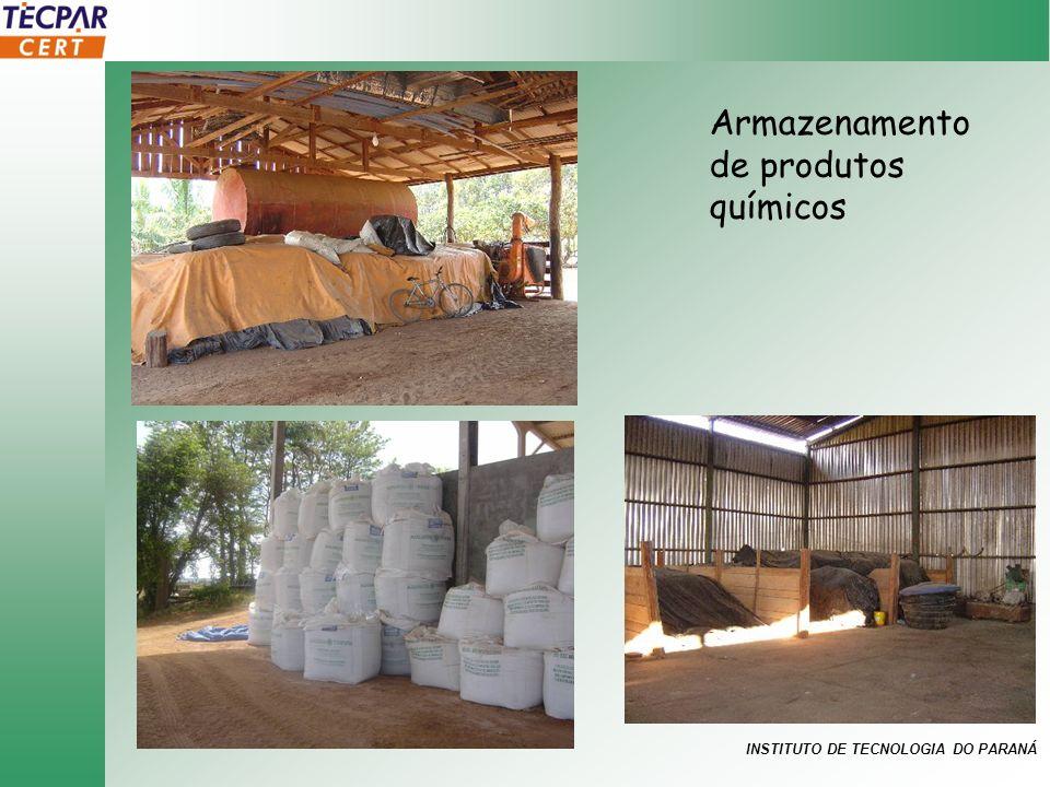 INSTITUTO DE TECNOLOGIA DO PARANÁ Armazenamento de produtos químicos