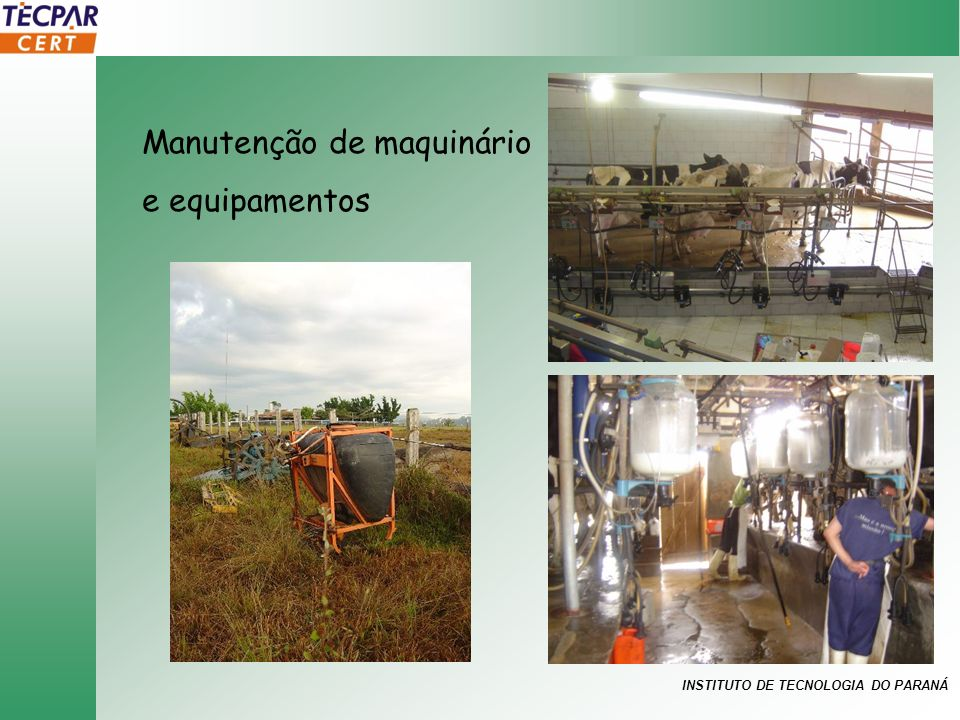 INSTITUTO DE TECNOLOGIA DO PARANÁ Manutenção de maquinário e equipamentos