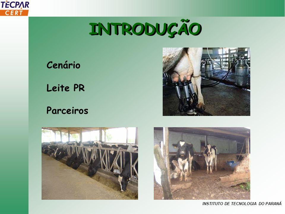 INSTITUTO DE TECNOLOGIA DO PARANÁ INTRODUÇÃO Cenário Leite PR Parceiros