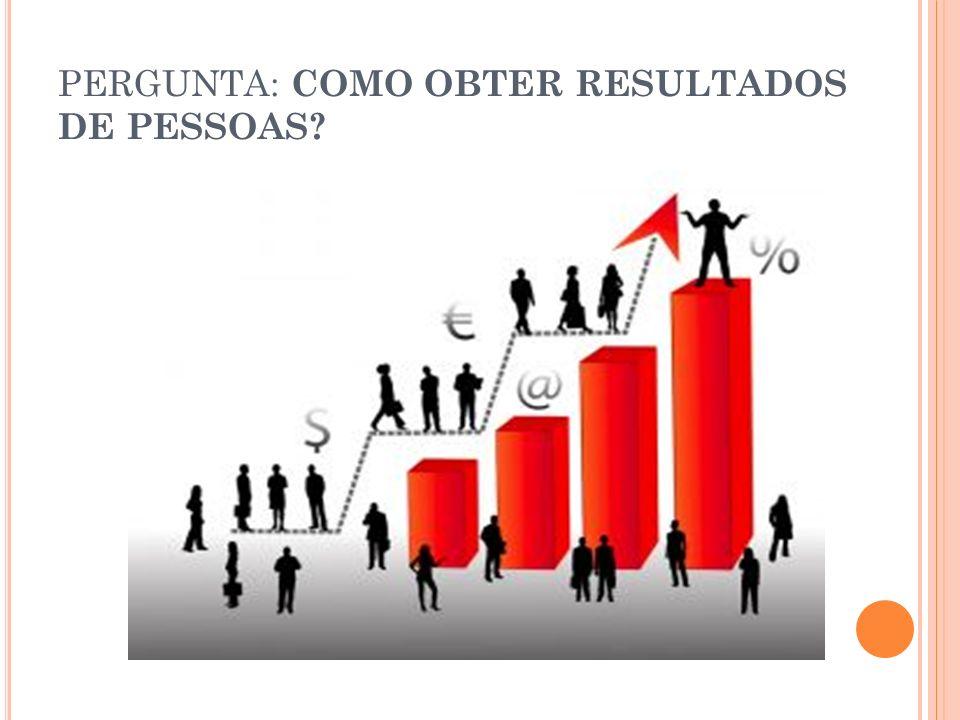 PERGUNTA: COMO OBTER RESULTADOS DE PESSOAS?
