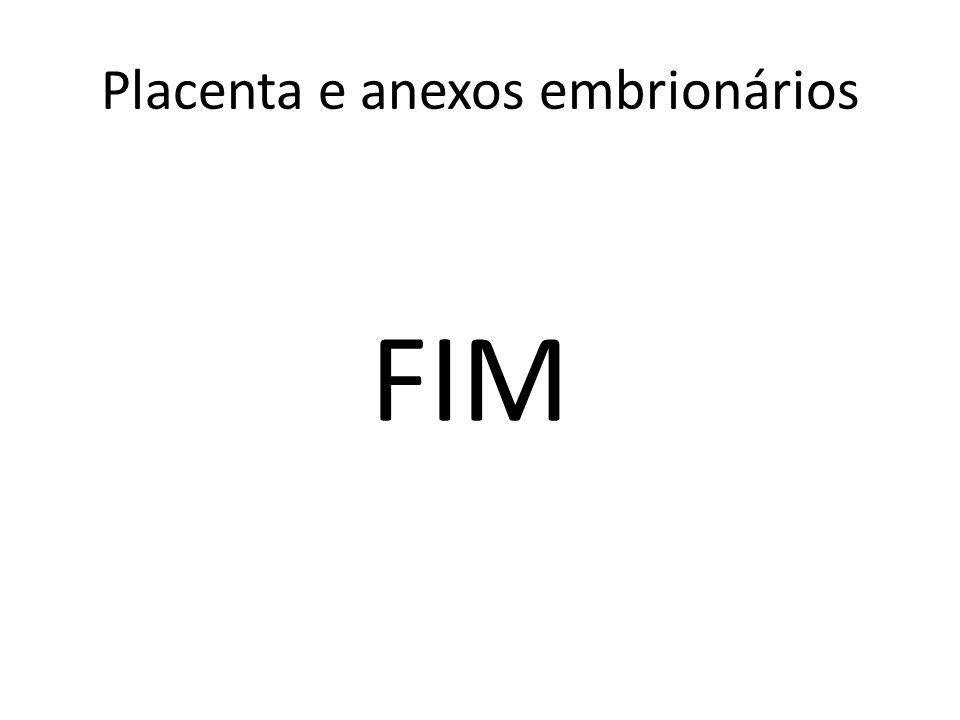 FIM Placenta e anexos embrionários