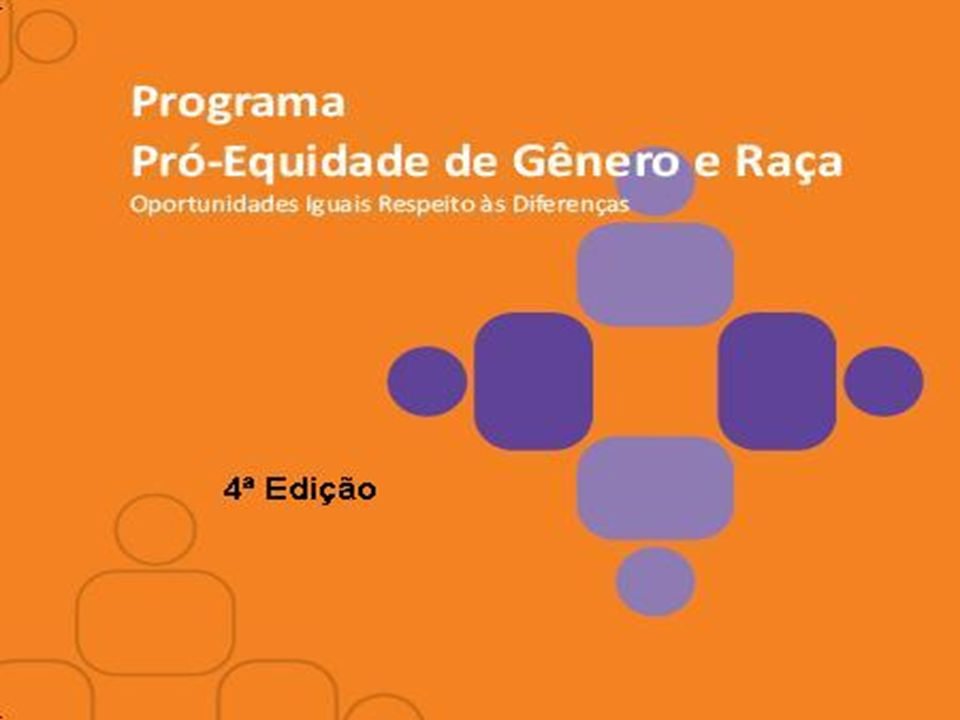 2 PRESIDÊNCIA DA REPÚBLICA SECRETARIA DE POLÍTICAS PARA AS MULHERES Programa Pró-Equidade de Gênero e Raça.