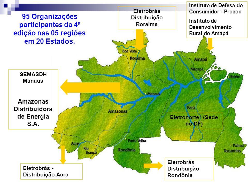 Instituto de Defesa do Consumidor - Procon Instituto de Desenvolvimento Rural do Amapá Eletrobrás Distribuição Roraima Eletrobrás Distribuição Rondôni