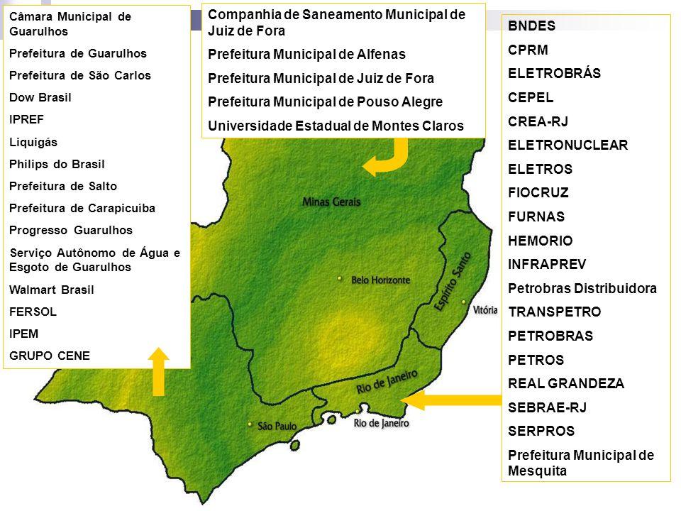 Companhia de Saneamento Municipal de Juiz de Fora Prefeitura Municipal de Alfenas Prefeitura Municipal de Juiz de Fora Prefeitura Municipal de Pouso A