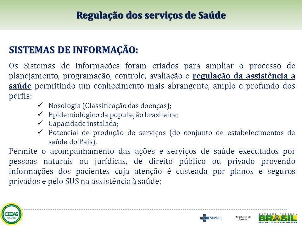 SISTEMAS DE INFORMAÇÃO: Os Sistemas de Informações foram criados para ampliar o processo de planejamento, programação, controle, avaliação e regulação
