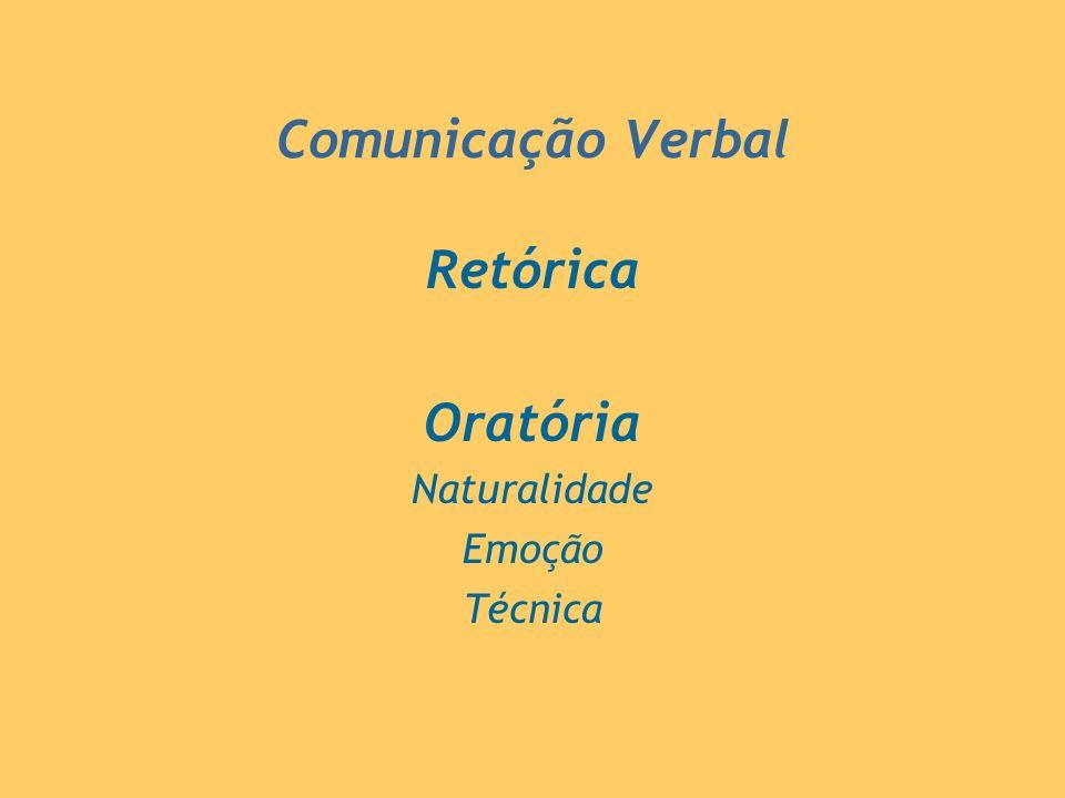 Comunicação Verbal Retórica Oratória Naturalidade Emoção Técnica