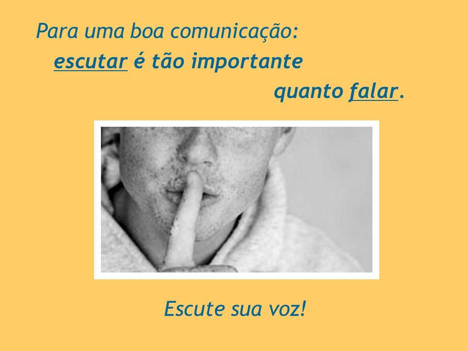 Para uma boa comunicação: escutar é tão importante quanto falar. Escute sua voz!
