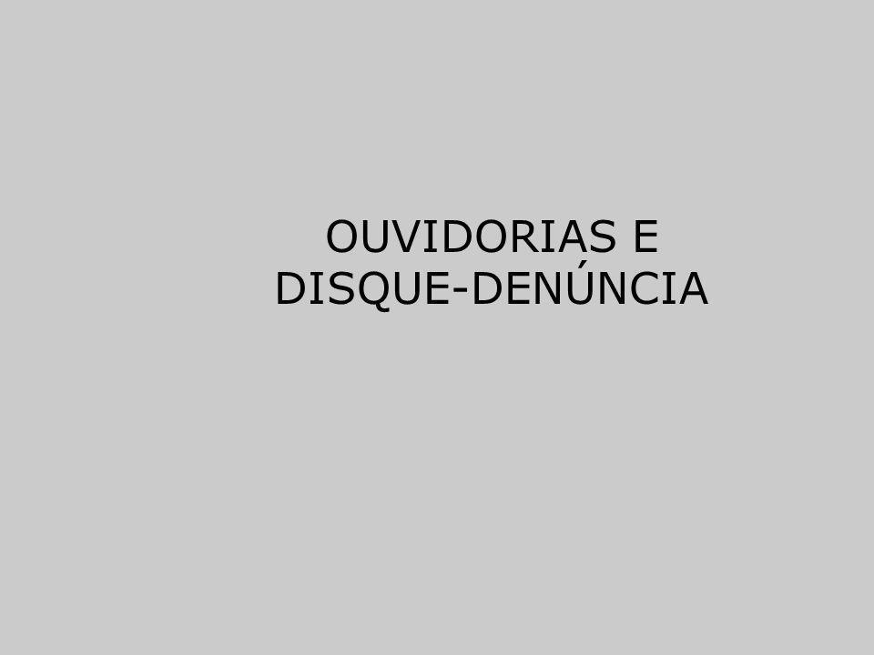 OUVIDORIAS E DISQUE-DENÚNCIA