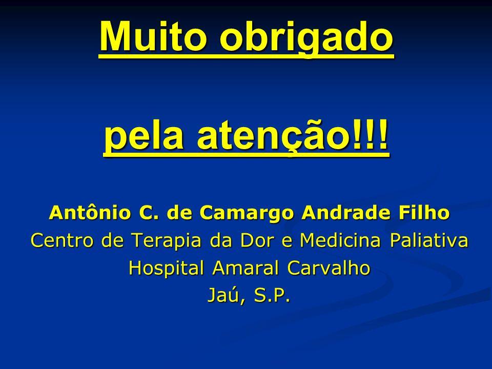 Muito obrigado pela atenção!!! Antônio C. de Camargo Andrade Filho Antônio C. de Camargo Andrade Filho Centro de Terapia da Dor e Medicina Paliativa C