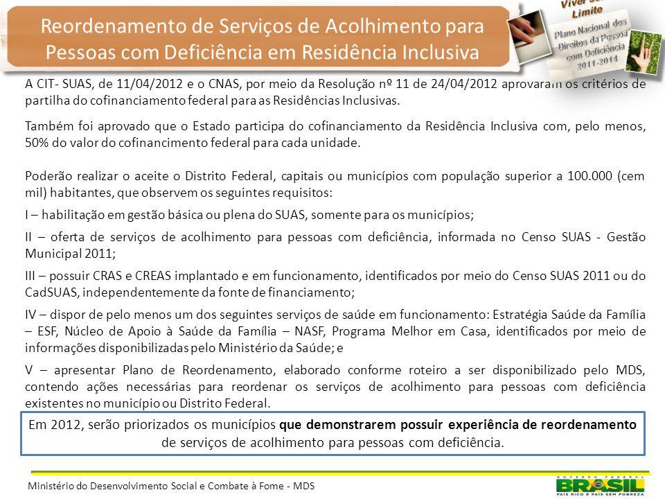 O apoio por meio do cofinanciamento federal do Piso de Alta Complexidade - PAC II para oferta de Serviço de Acolhimento Institucional para Jovens e Ad