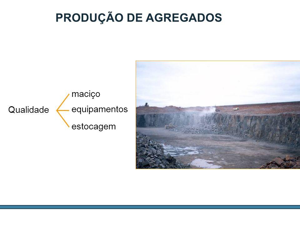 ESTUDOS DE AGREGADOS / 11 Qualidade equipamentos estocagem maciço PRODUÇÃO DE AGREGADOS