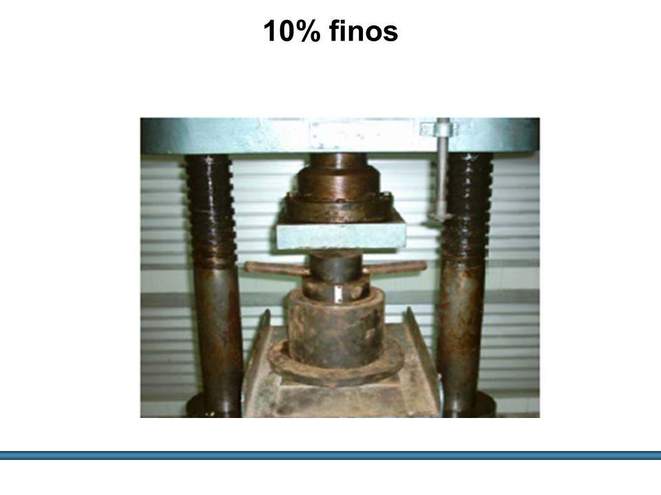 ESTUDOS DE AGREGADOS / 47 10% finos