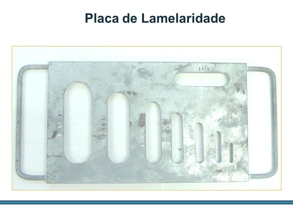 ESTUDOS DE AGREGADOS / 51 Placa de Lamelaridade