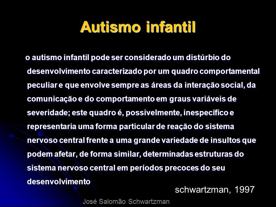 Autismo infantil o autismo infantil pode ser considerado um distúrbio do desenvolvimento caracterizado por um quadro comportamental peculiar e que env