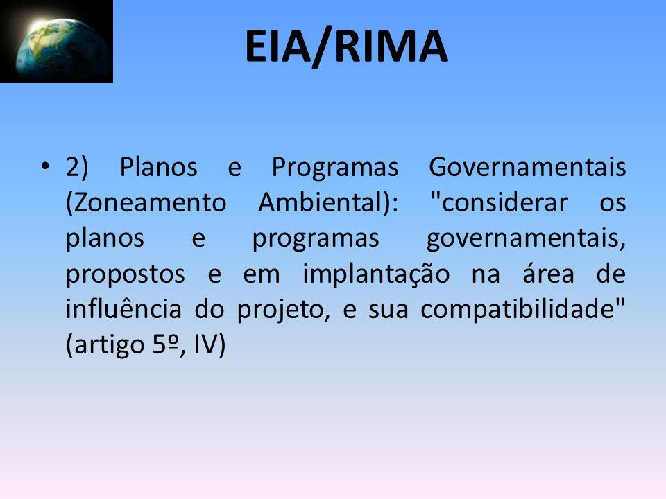 2) Planos e Programas Governamentais (Zoneamento Ambiental):