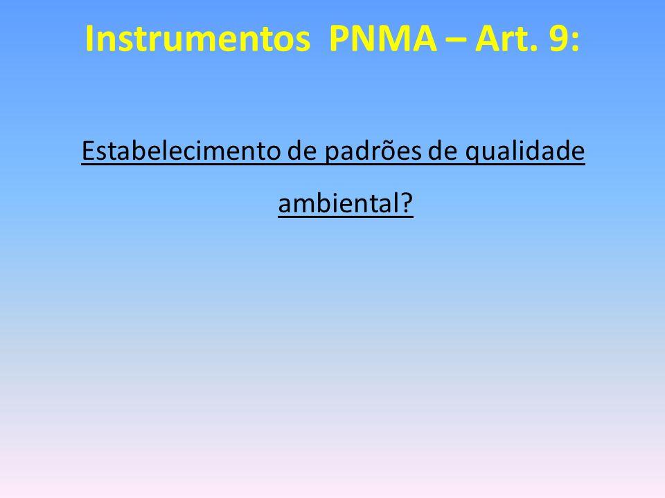 Instrumentos PNMA – Art. 9: Zoneamento Ambiental?