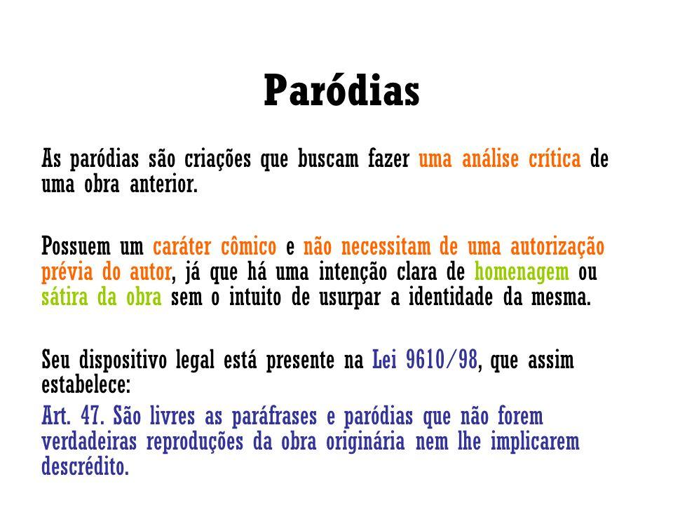 Porém, deve-se atentar pela observação feita por José de Oliveira Ascensão in Direito Autoral: Por aqui se vê que o caráter criador não pode deixar de estar presente.