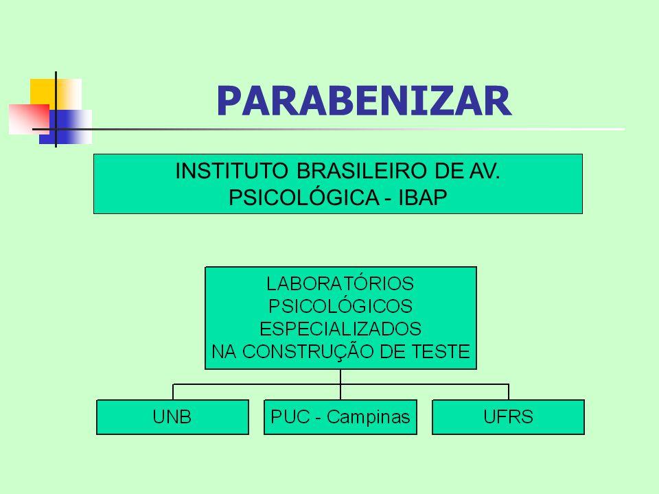 PARABENIZAR INSTITUTO BRASILEIRO DE AV. PSICOLÓGICA - IBAP