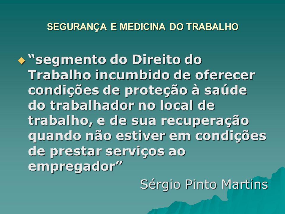 SEGURANÇA E MEDICINA DO TRABALHO CLT – Cap.V (arts.