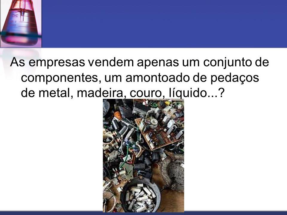 As empresas vendem apenas um conjunto de componentes, um amontoado de pedaços de metal, madeira, couro, líquido...?