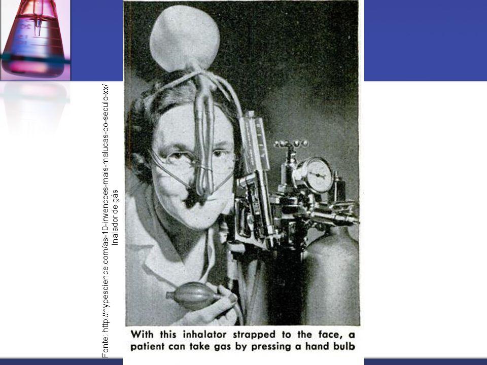 Fonte: http://hypescience.com/as-10-invencoes-mais-malucas-do-seculo-xx/ Inalador de gás