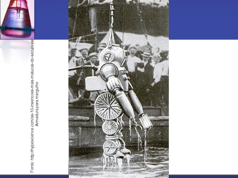 Fonte: http://hypescience.com/as-10-invencoes-mais-malucas-do-seculo-xx/ Armadura para mergulho