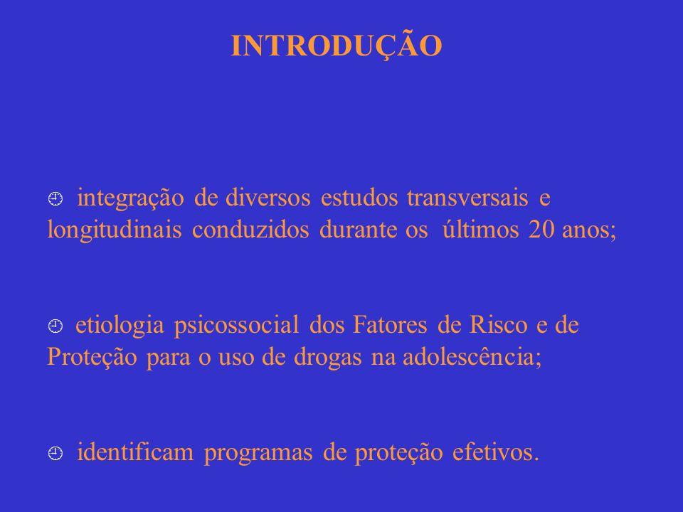 INTRODUÇÃO integração de diversos estudos transversais e longitudinais conduzidos durante os últimos 20 anos; etiologia psicossocial dos Fatores de Ri