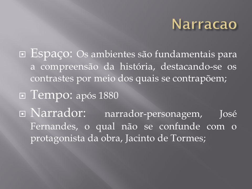 José Fernandes: narrador Jacinto de Tormes: D.