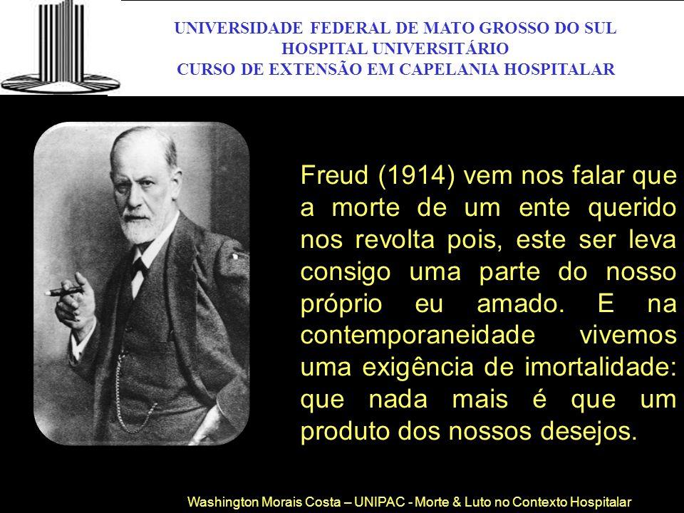 Freud (1914) vem nos falar que a morte de um ente querido nos revolta pois, este ser leva consigo uma parte do nosso próprio eu amado. E na contempora
