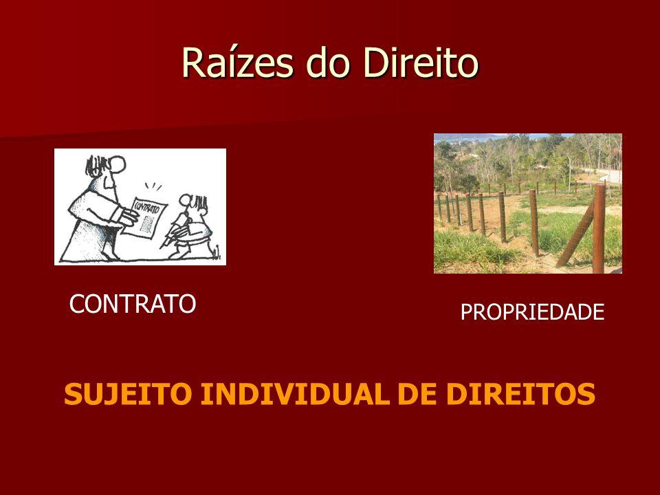 Raízes do Direito CONTRATO PROPRIEDADE SUJEITO INDIVIDUAL DE DIREITOS