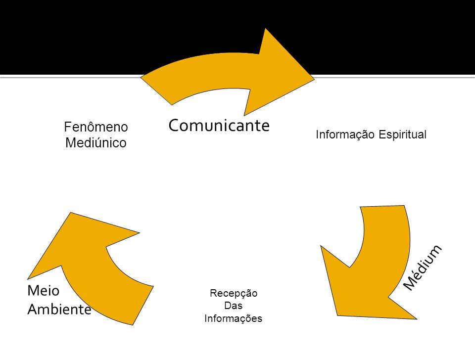 Informação Espiritual Recepção Das Informações Fenômeno Mediúnico Comunicante Médium Meio Ambiente